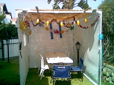 Leah and Gill's sukkah
