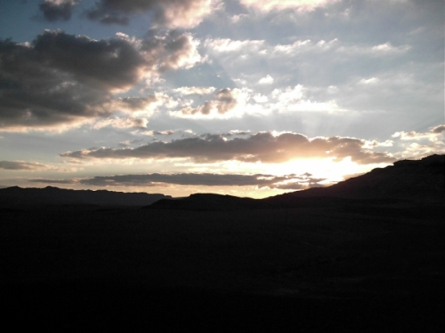 sunset over the machtesh