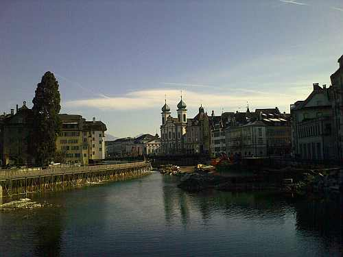 Lucerne, view from bridge